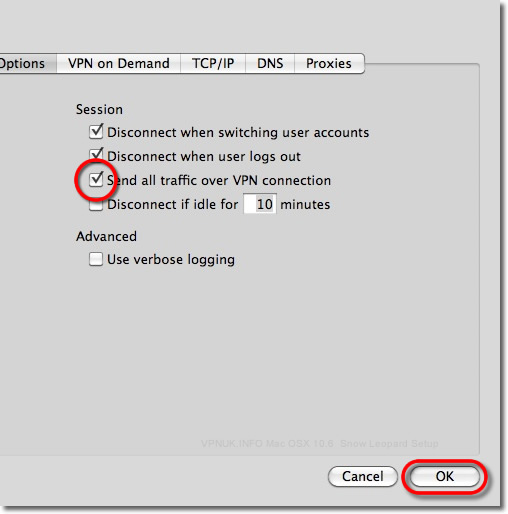 Send all traffic over vpn windows
