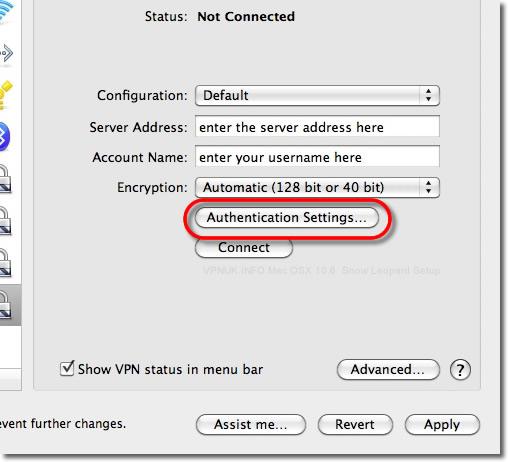 Mac OSX 10.6 Snow Leopard L2TP VPN setup